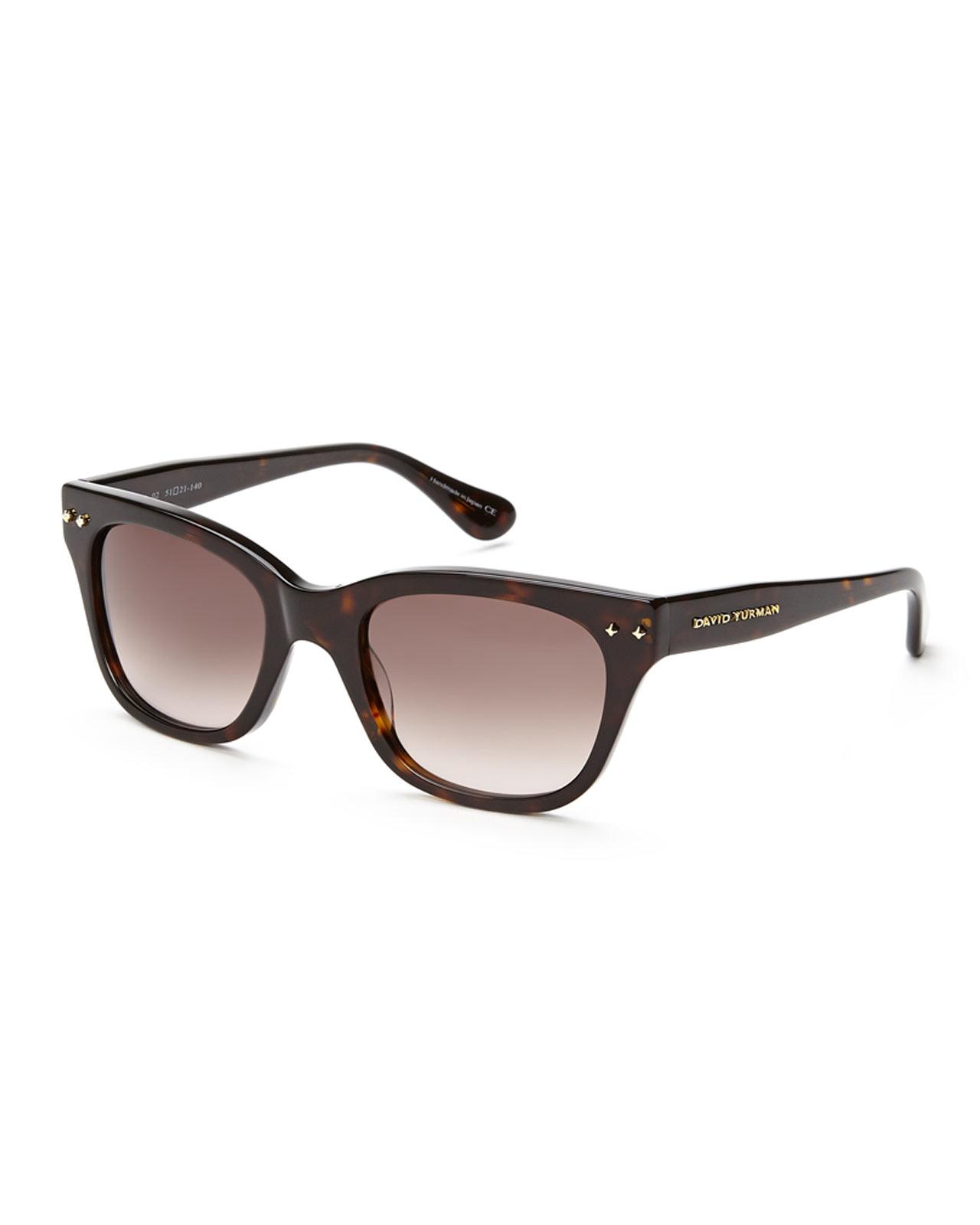 a28db317f1 Lyst - David Yurman Tortoiseshell-Look Wayfarer Sunglasses in Brown
