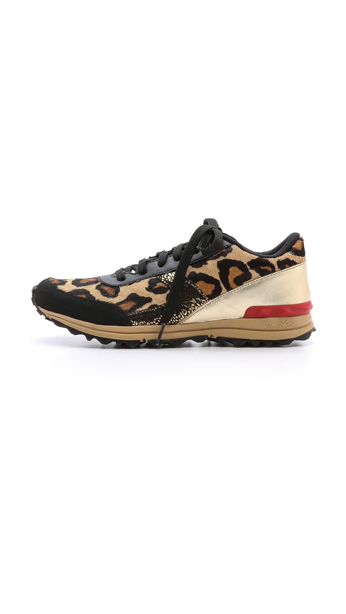 ab25de3151029c Sam Edelman Dax Jogging Sneakers - Black Gold Leopard - Lyst