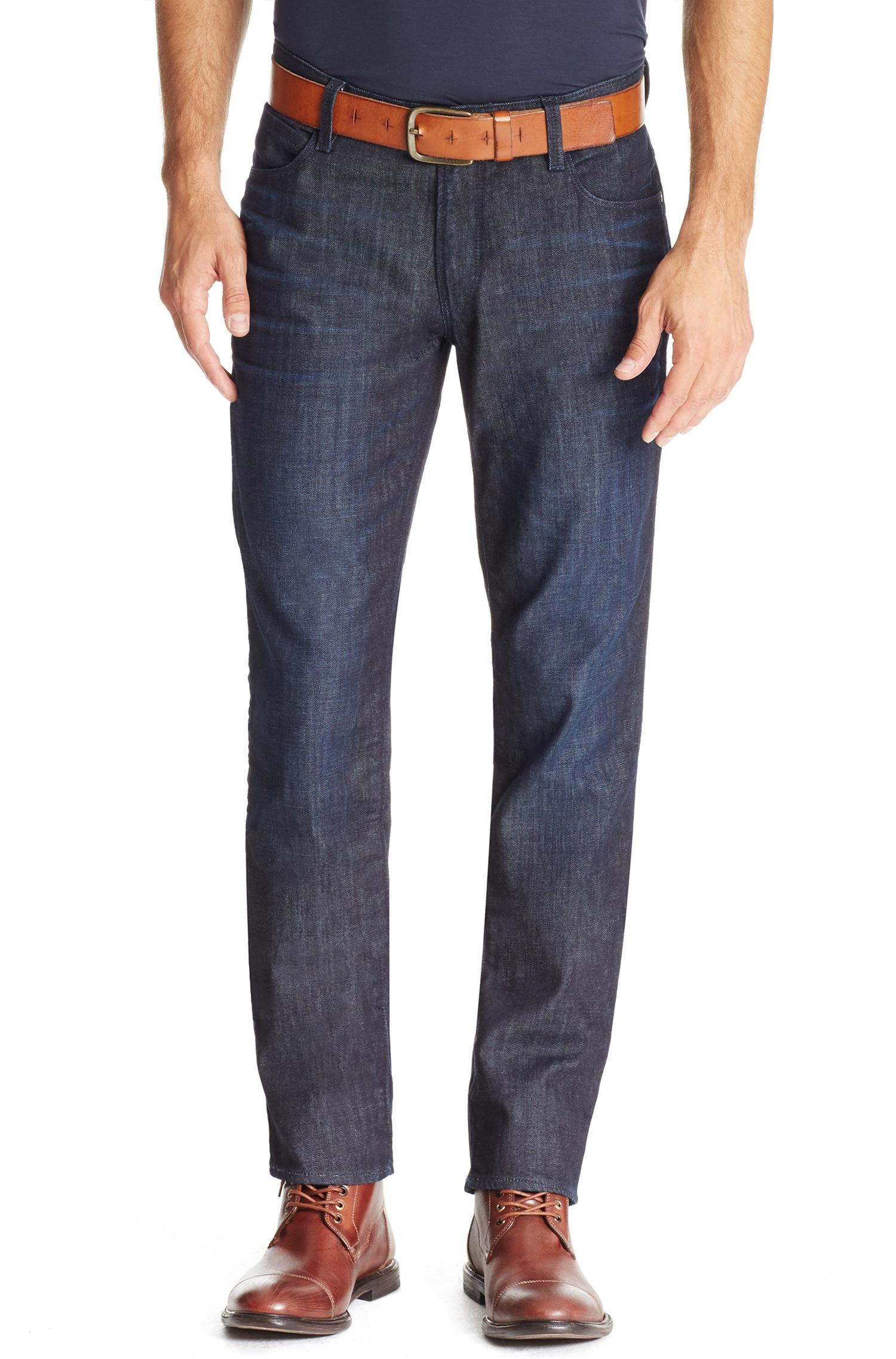 boss orange 39 orange63 39 slim fit stretch cotton jeans in. Black Bedroom Furniture Sets. Home Design Ideas