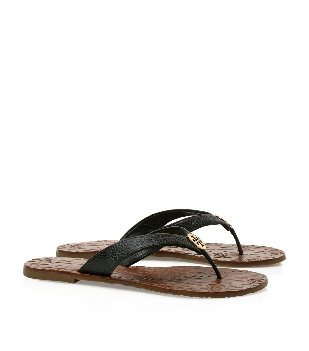 be6dbfd0205b1 Tory Burch Thora Thong Sandal in Black - Lyst