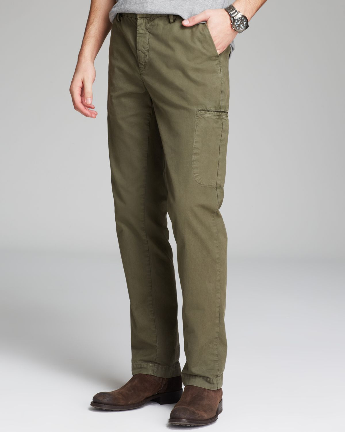 Vince Colored Twill Cargo Pants in Green for Men | Lyst