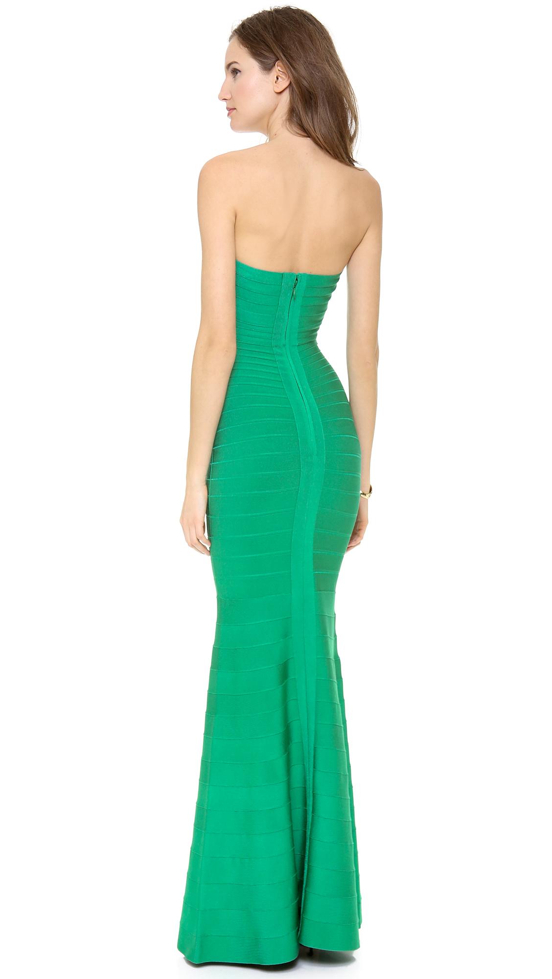 Green Strapless Dresses