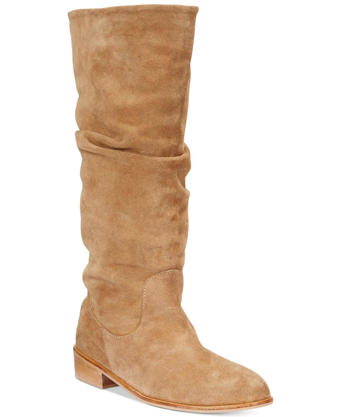 charles by charles david joan boots in beige sand suede