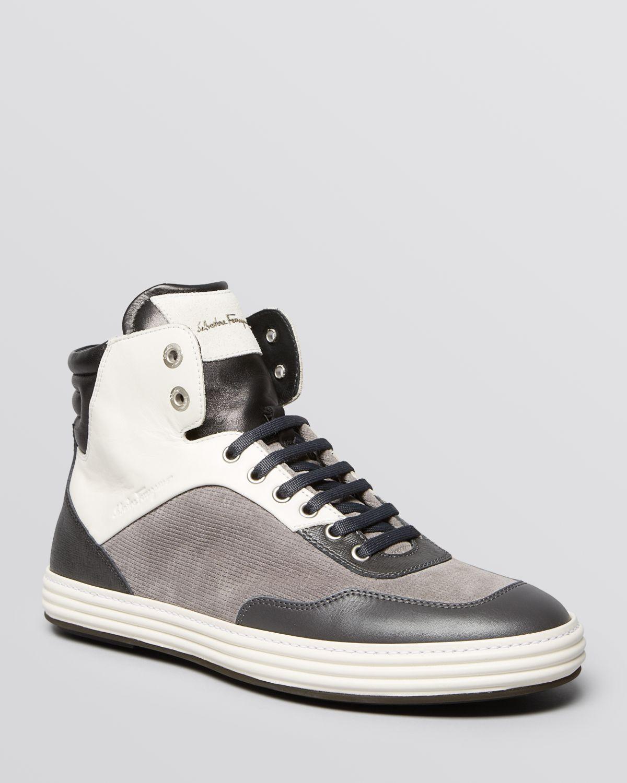 ferragamo palestro high top sneakers in black for men lyst. Black Bedroom Furniture Sets. Home Design Ideas