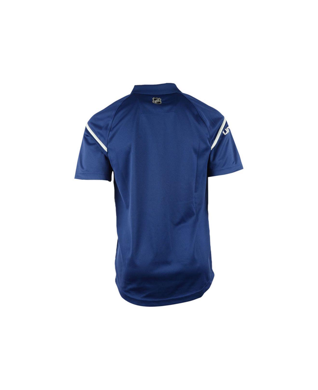 5c336346 Reebok Blue Men'S Tampa Bay Lightning Center Ice Polo Shirt for men