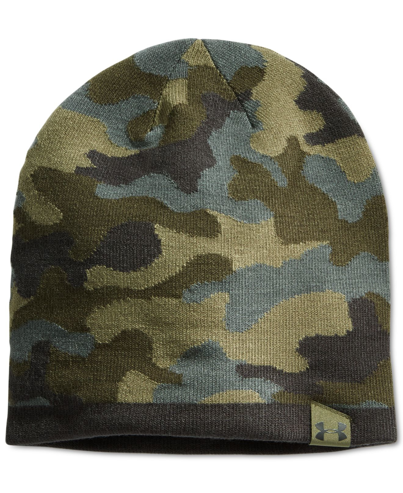 46b630755625b3 Under Armour 2-way Camo Beanie in Green for Men - Lyst