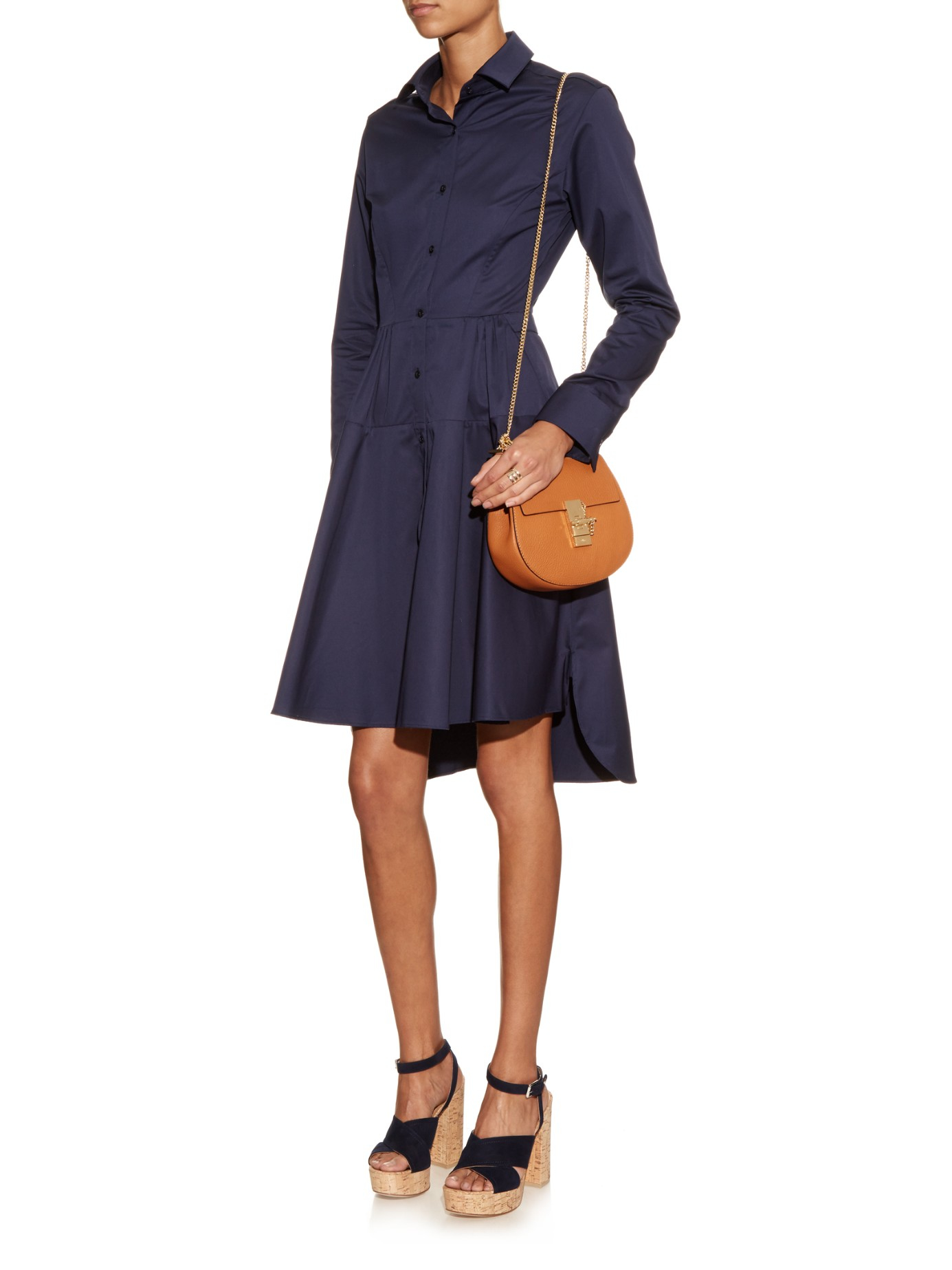 7a25227385c0c Chloé Drew Mini Leather Cross-Body Bag in Brown - Lyst