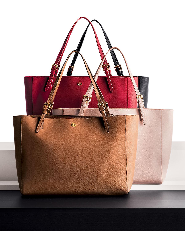 b7fbfcfa97c8 Lyst - Tory Burch York Saffiano Leather Tote Bag in Pink
