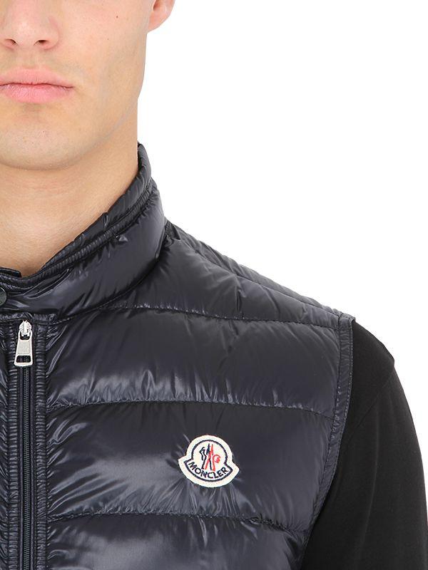 d32a4a372 Moncler Black Gui Quilted Nylon Down Vest for men
