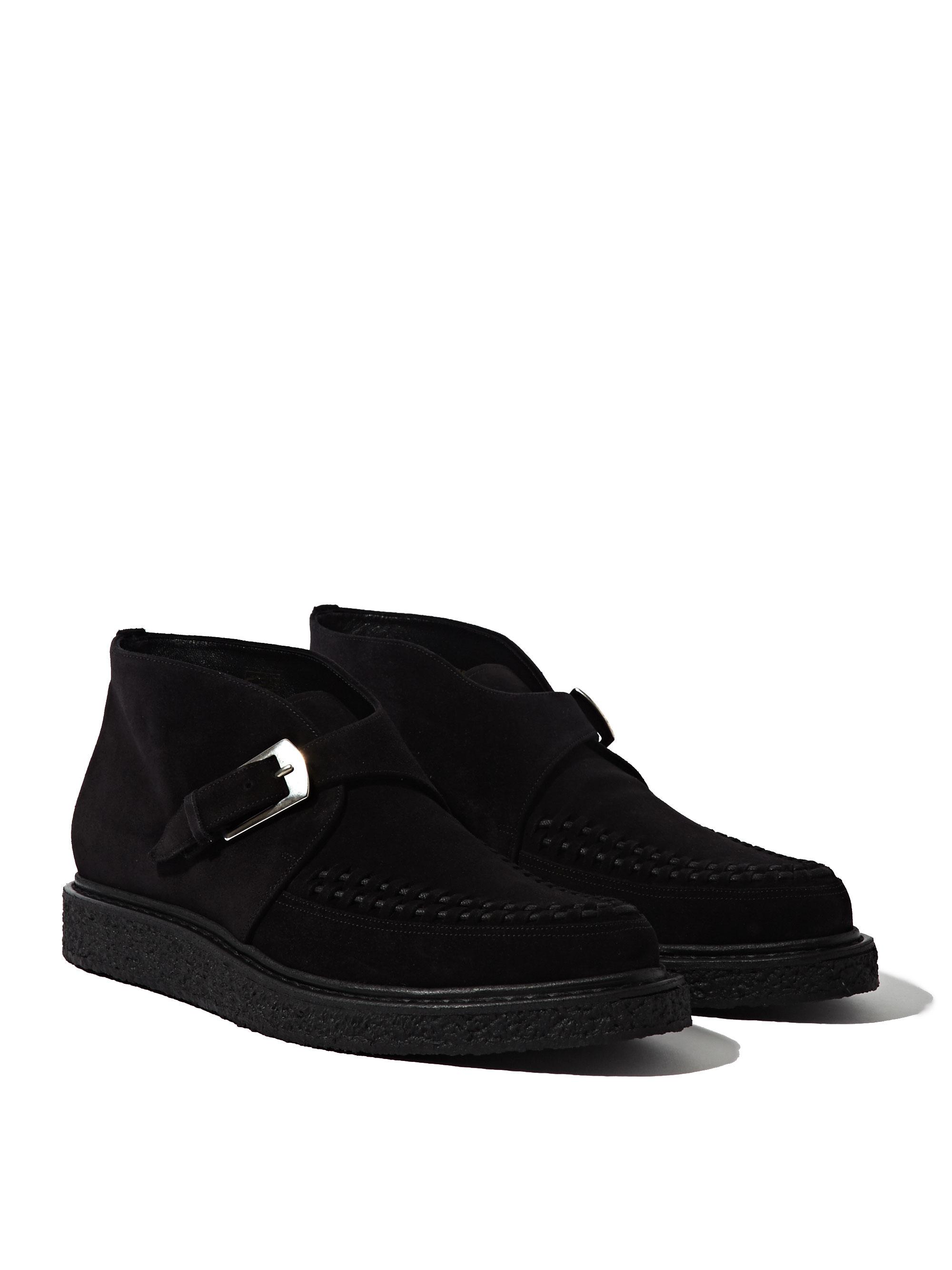 Mens Black Wedge Shoes