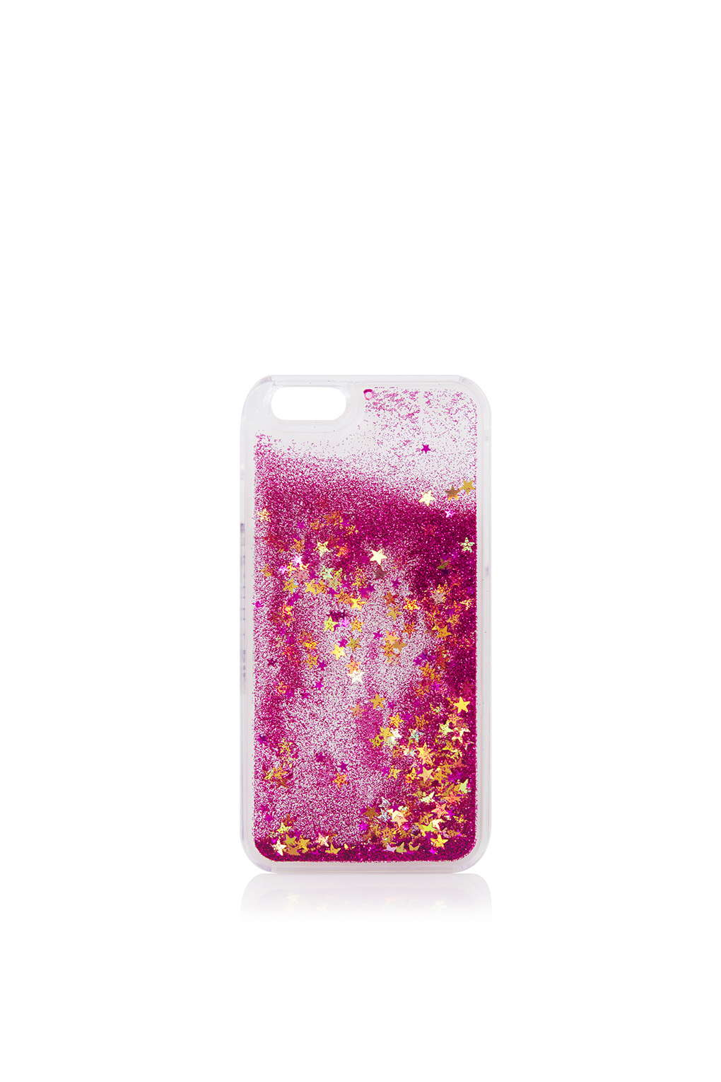 online retailer b43b3 1db2e TOPSHOP Pink Glitter Iphone 6 Case By Skinnydip in Pink - Lyst