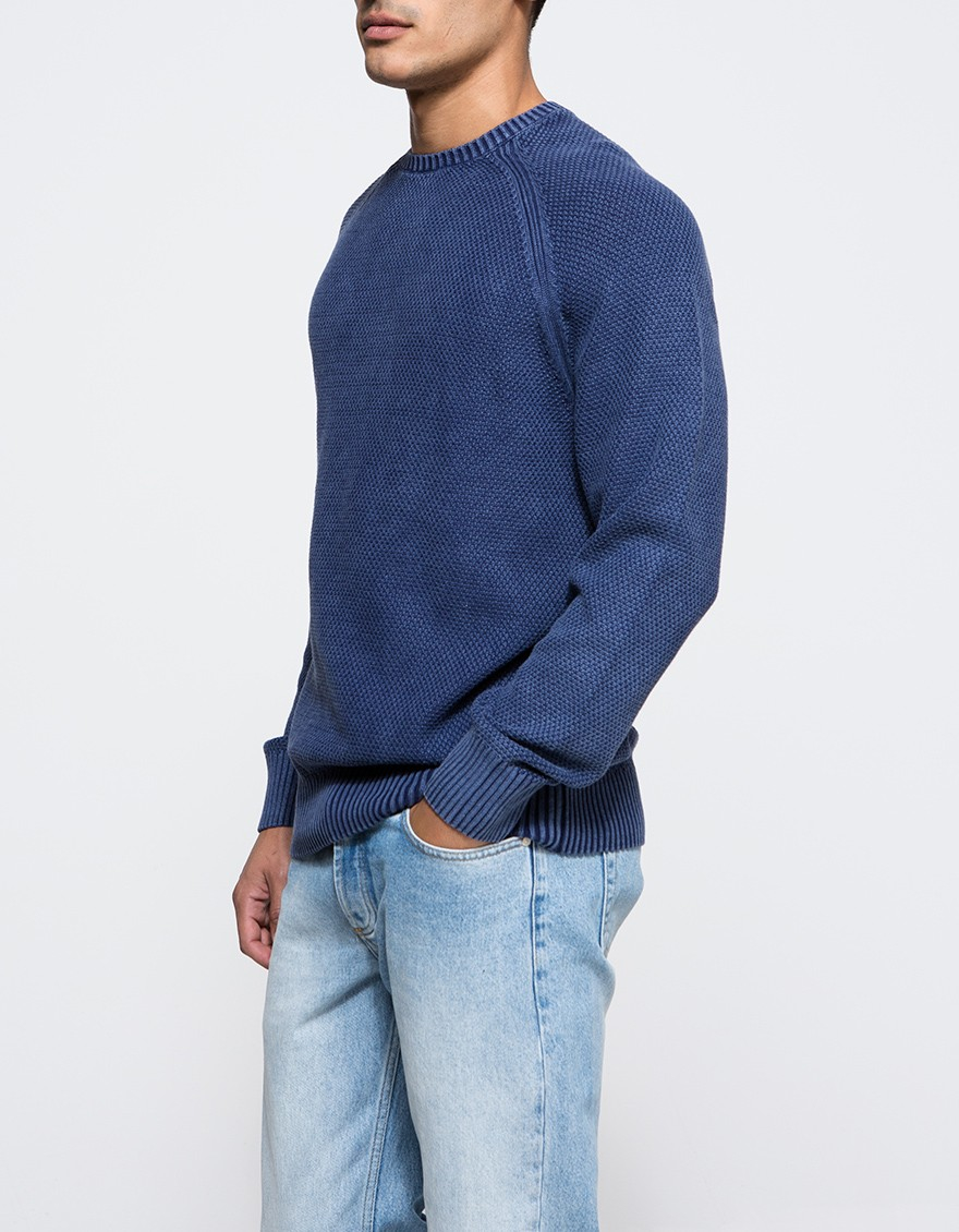 Lyst - Obey Drifter Sweater in Blue for Men