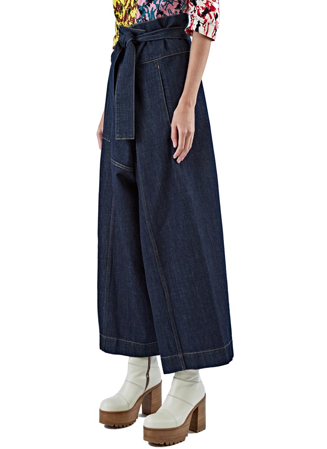 Marni Women's Oversized Wide Leg Jeans In Blue in Blue