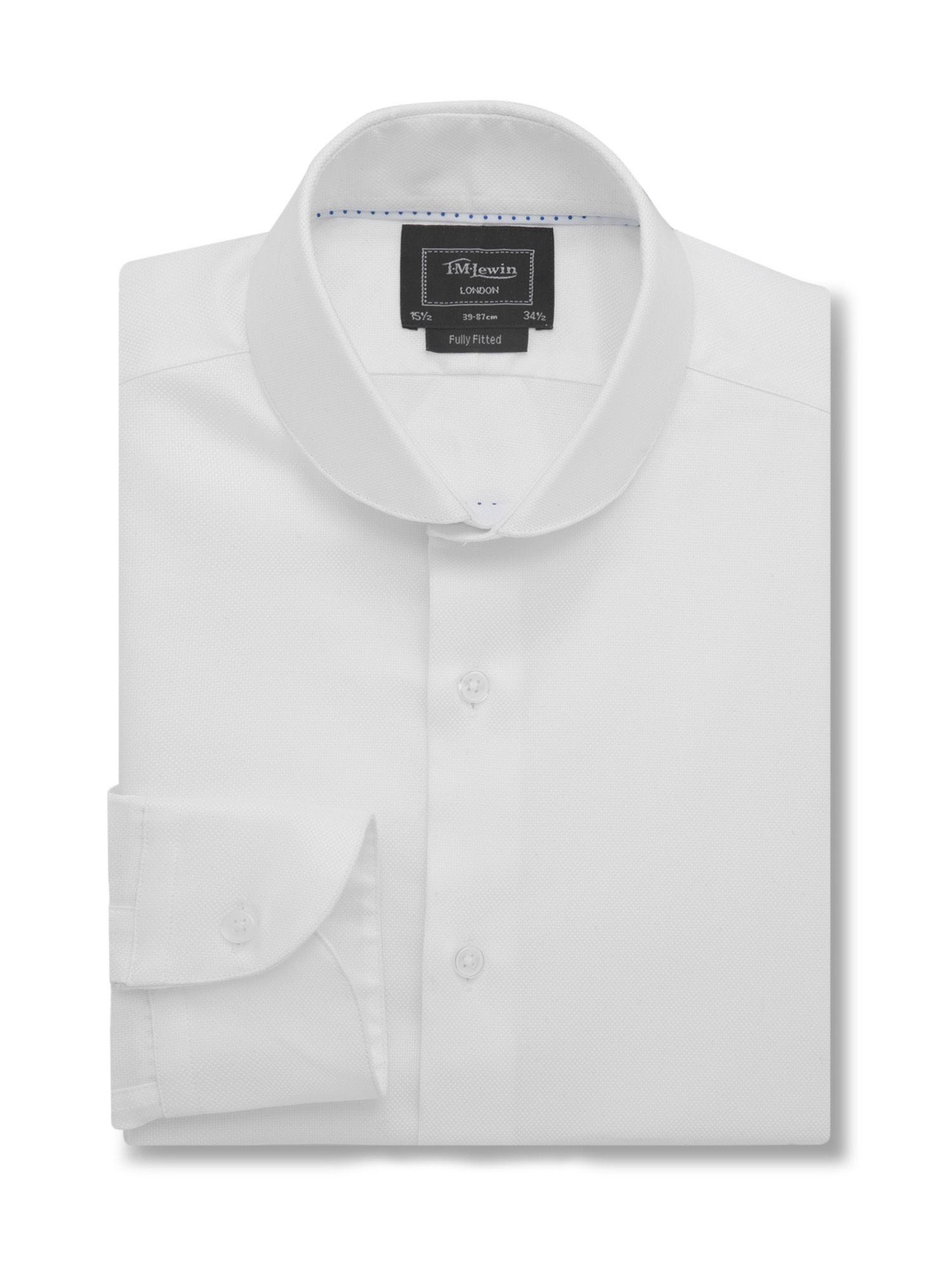 Tm lewin fully fitted oxford round cutaway collar shirt in for White cutaway collar shirt
