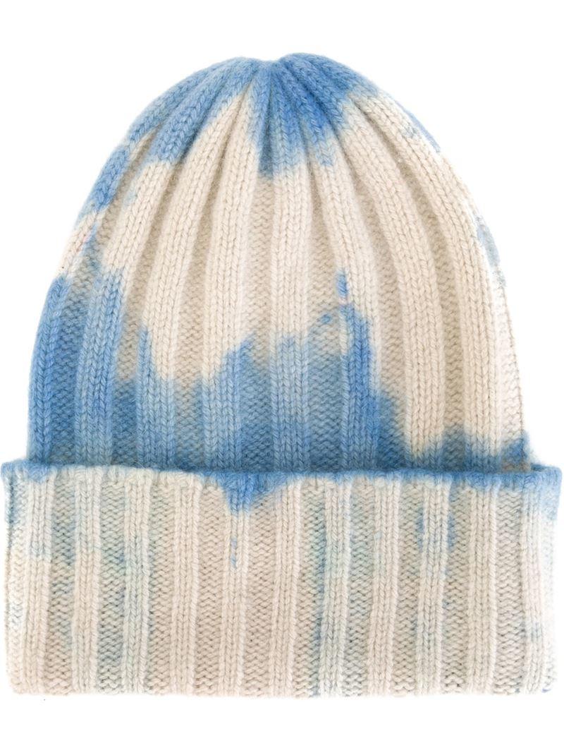 4851d10ee The Elder Statesman White Tie-dye Beanie