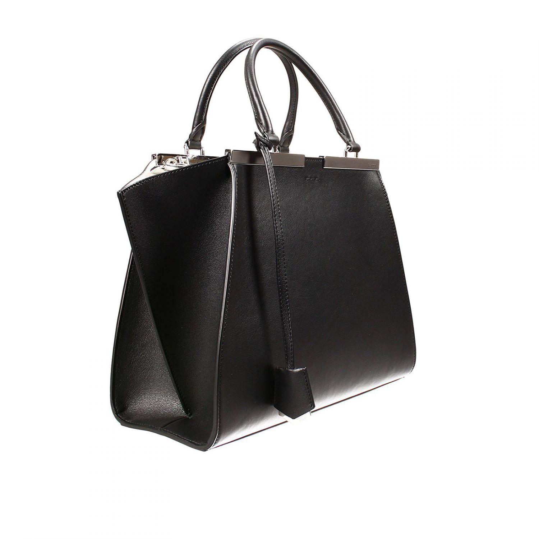 1786ab103039 Lyst fendi handbag bag jours small leather contrast inside in black jpg  1500x1500 Fendi black handbag