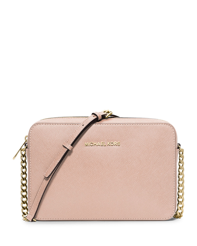 d549708c0a39 MICHAEL Michael Kors Jet Set Travel Large Crossbody Bag in Pink - Lyst