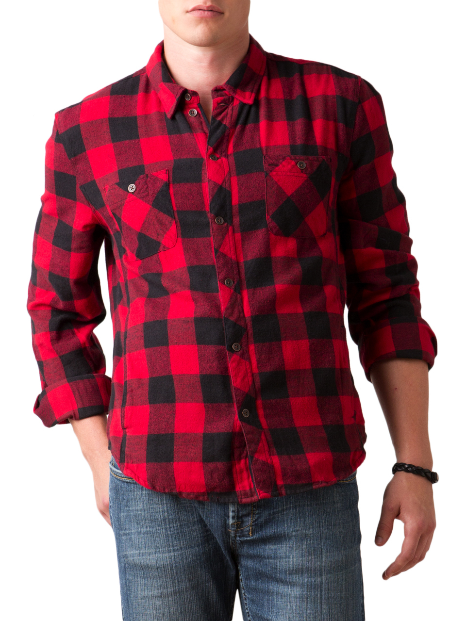 Alternative apparel timbers antique flannel button up for Button up flannel shirts