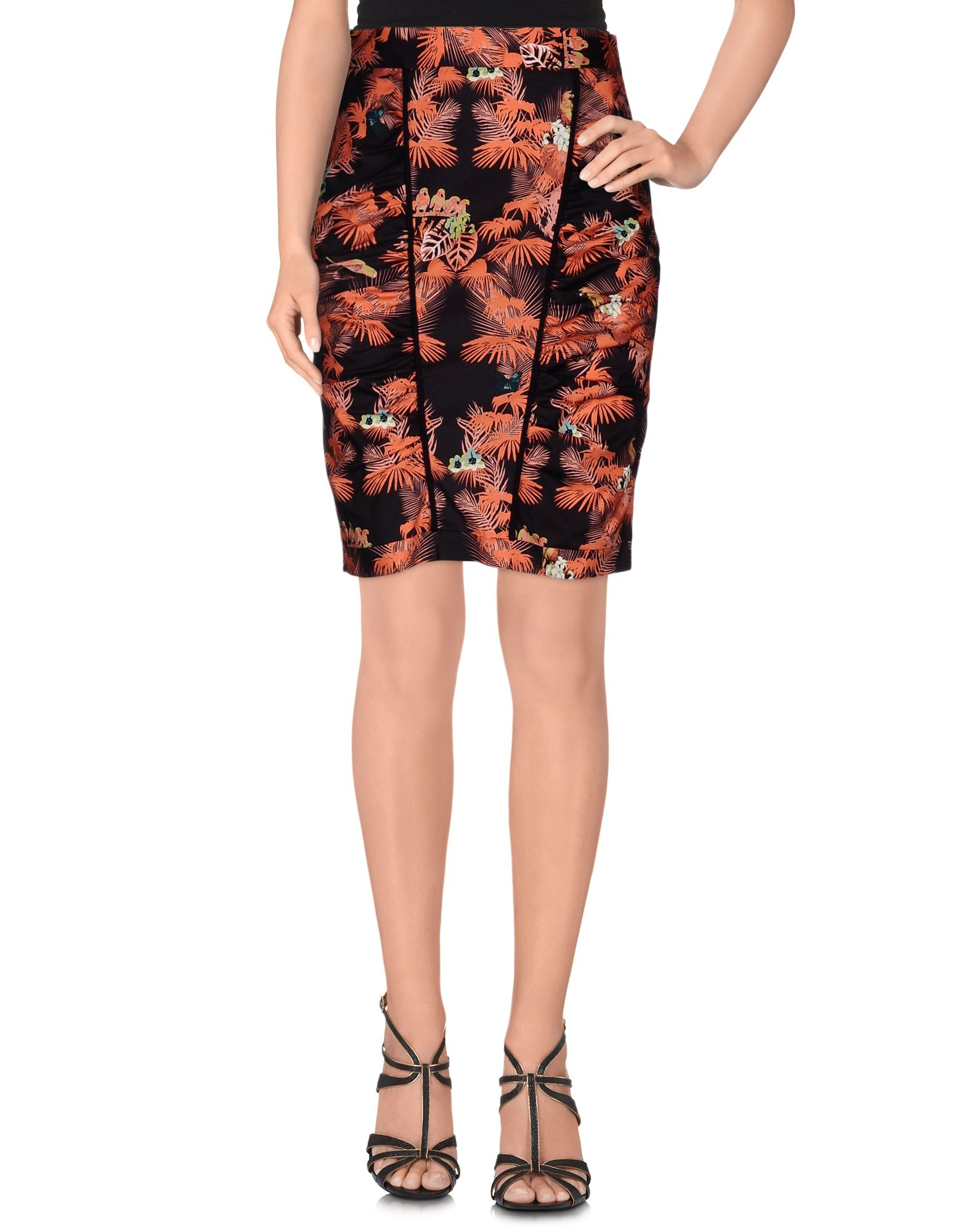 m missoni knee length skirt in pink coral lyst