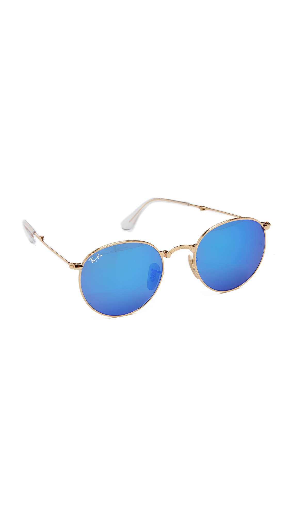 Ray-Ban Icons Mirrored Round Sunglasses in Metallic - Lyst 253acf8486