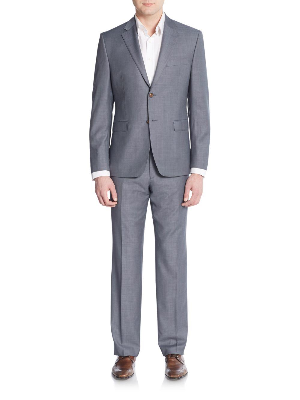 lauren by ralph lauren slim fit sharkskin wool suit in. Black Bedroom Furniture Sets. Home Design Ideas