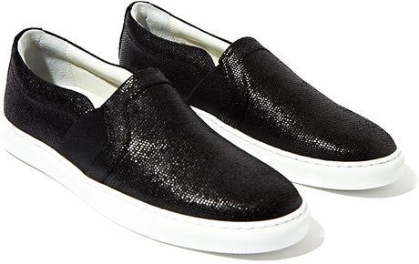 Lanvin Womens Slip On Sneakers in Black | Lyst