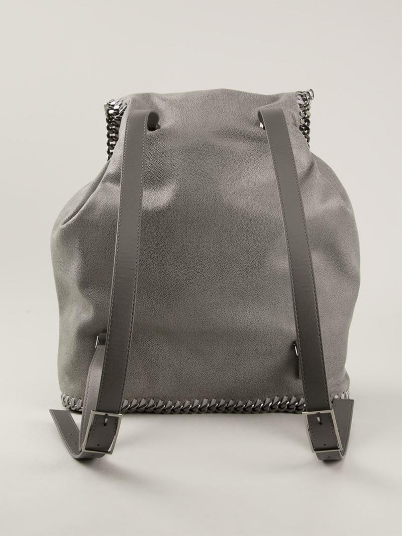 e614cbb03f34 Lyst - Stella McCartney  falabella  Backpack in Gray