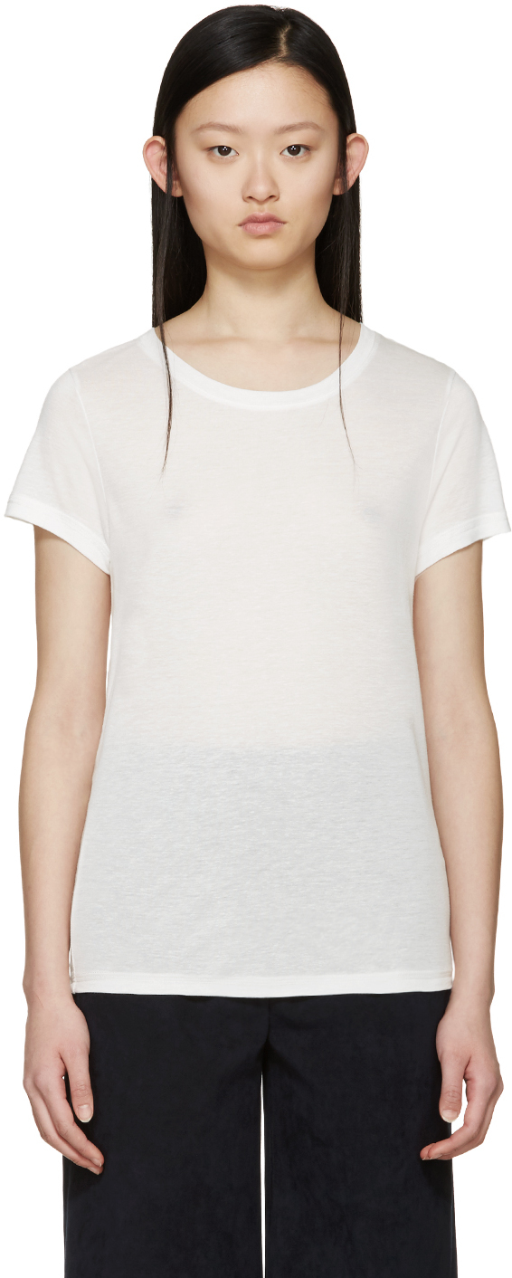 A p c white lilo t shirt in white lyst for Apc white t shirt