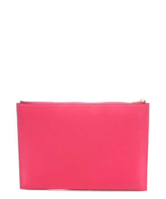 replica celine shoes - C��line Fushia Leather Flap Pocket Clutch in Pink | Lyst