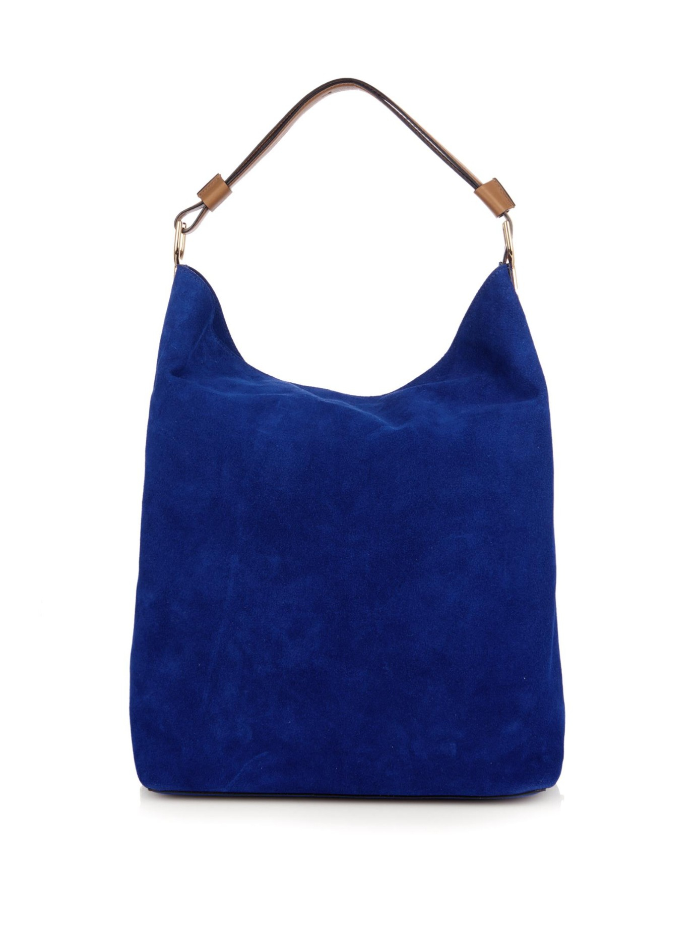 Marni Suede Shoulder Bag in Blue | Lyst