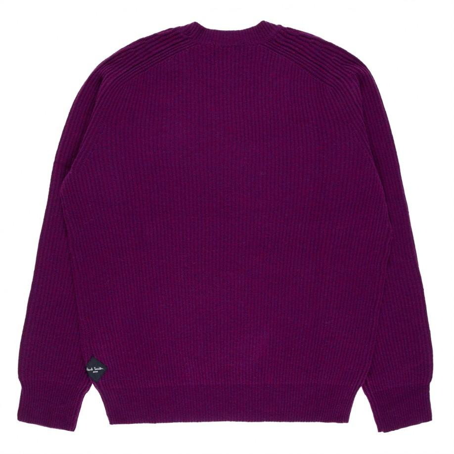 Men'S Purple Cardigan Sweater