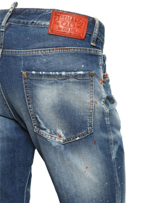 DSquared² 16.5Cm Cool Guy Faded Washed Denim Jeans in Blue for Men