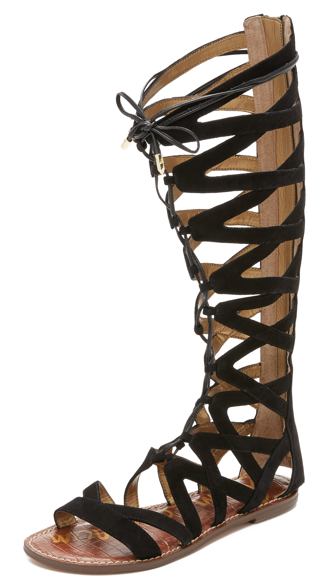 64f02946f35d Lyst - Sam Edelman Gena Tall Gladiator Sandals in Black