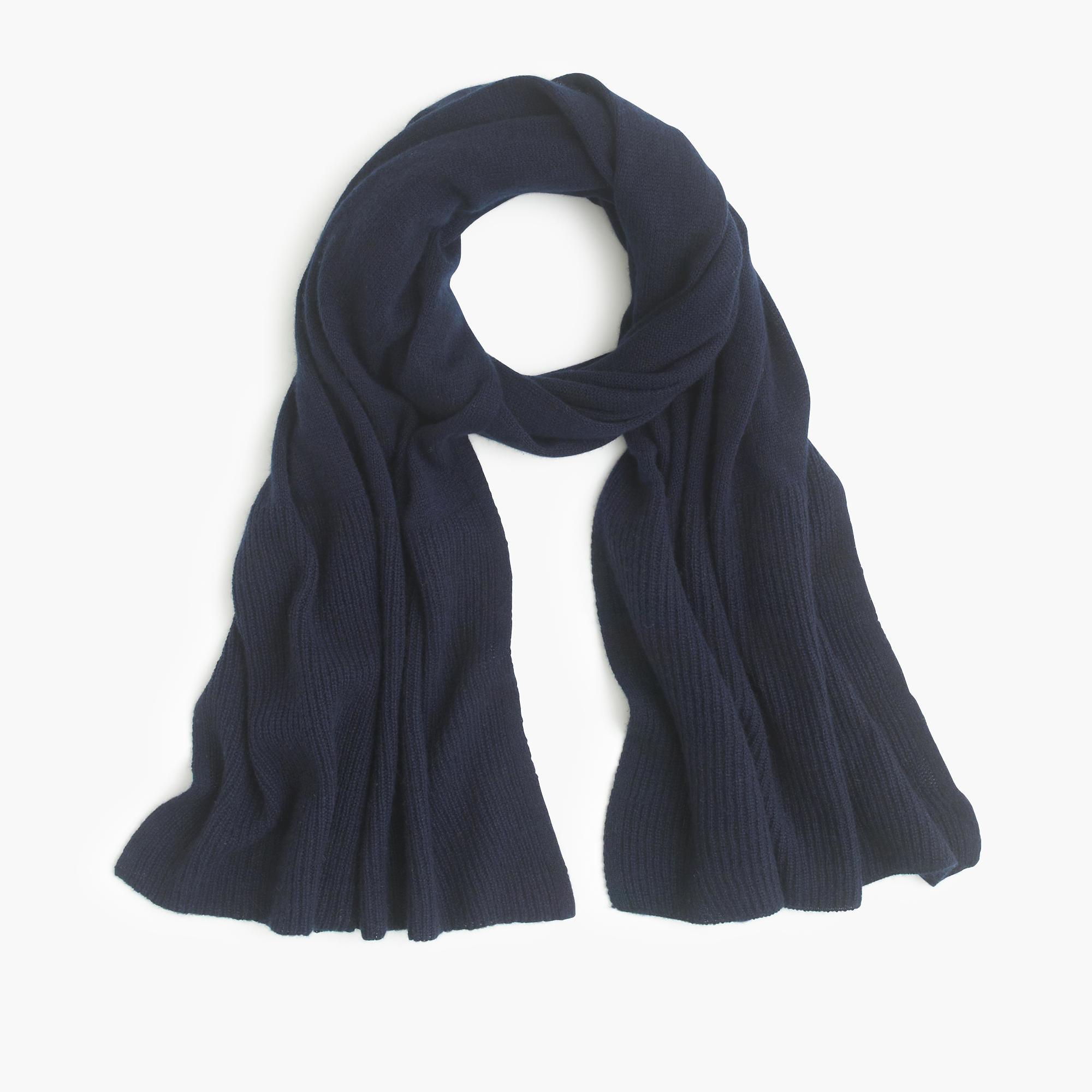 j crew ribbed scarf in blue lyst