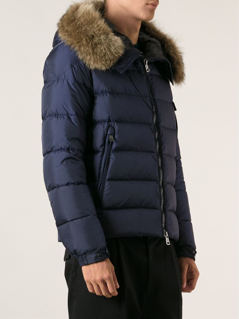 Moncler Dylan Padded Jacket In Blue For Men Lyst