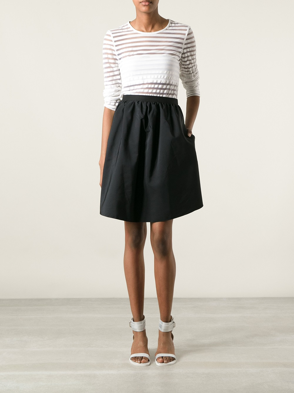 Carven Aline Skirt in Black | Lyst
