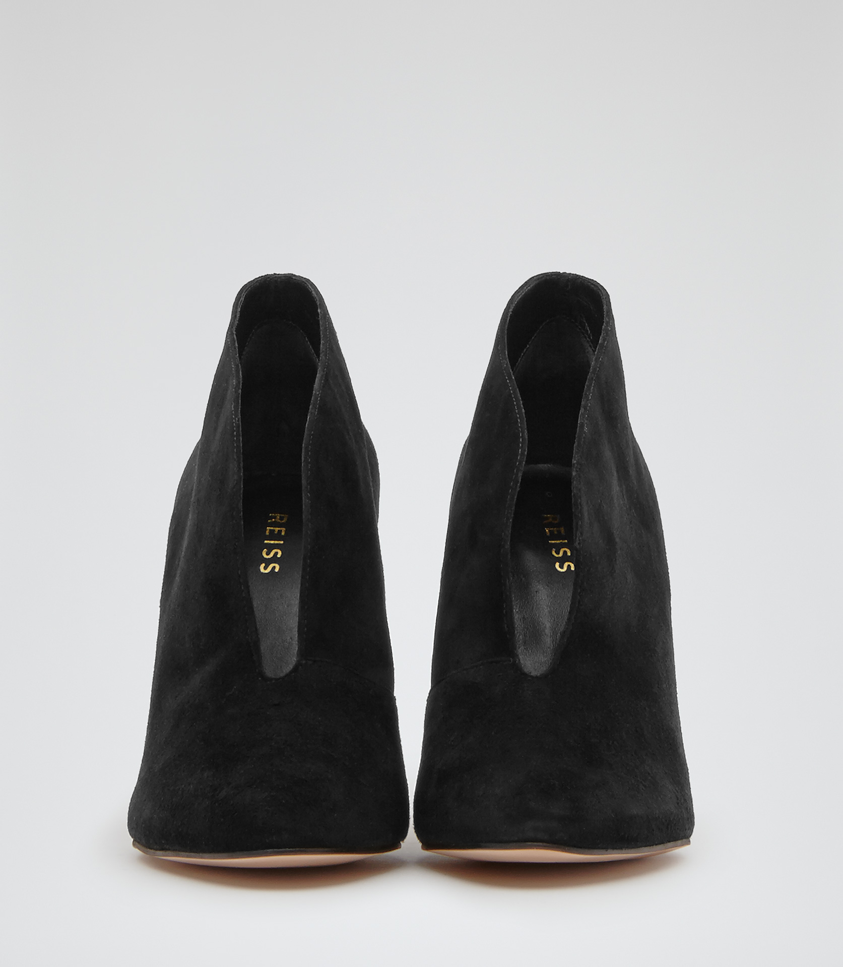 Lyst Reiss Lola Open Front Shoe Boots In Black
