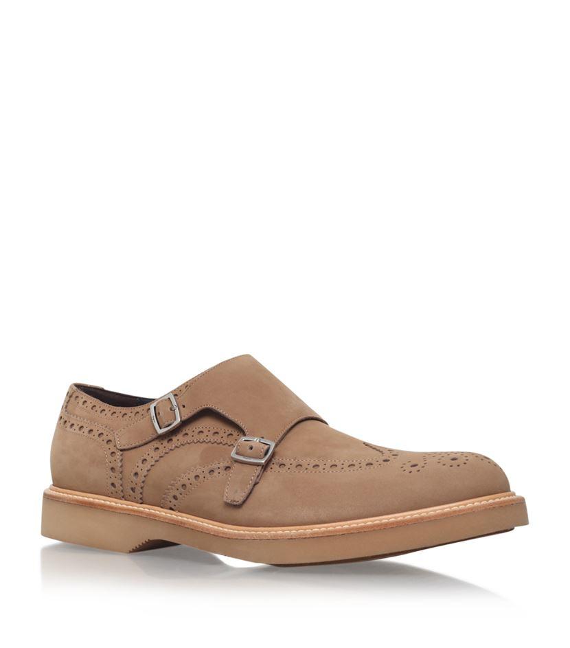 Ferragamo Lambert Double Monk Shoe in Brown for Men