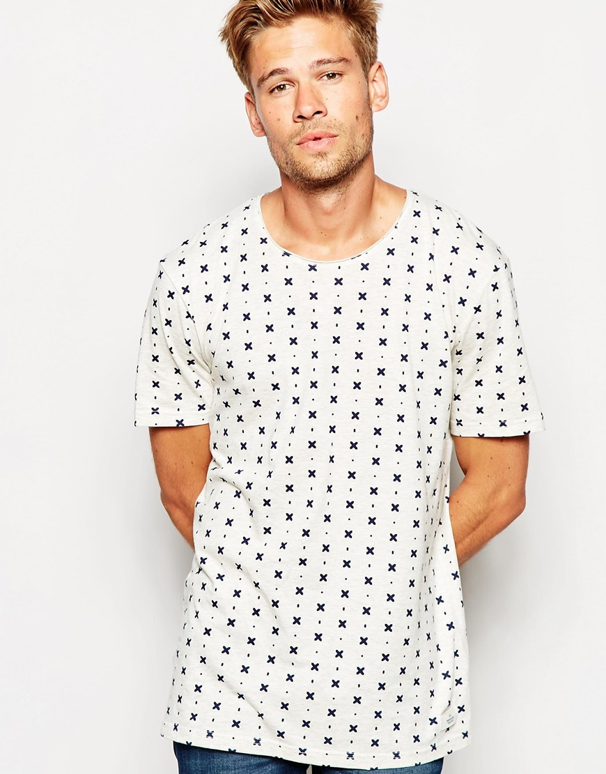 388eb72ae Esprit T-shirt With All Over Print in White for Men - Lyst