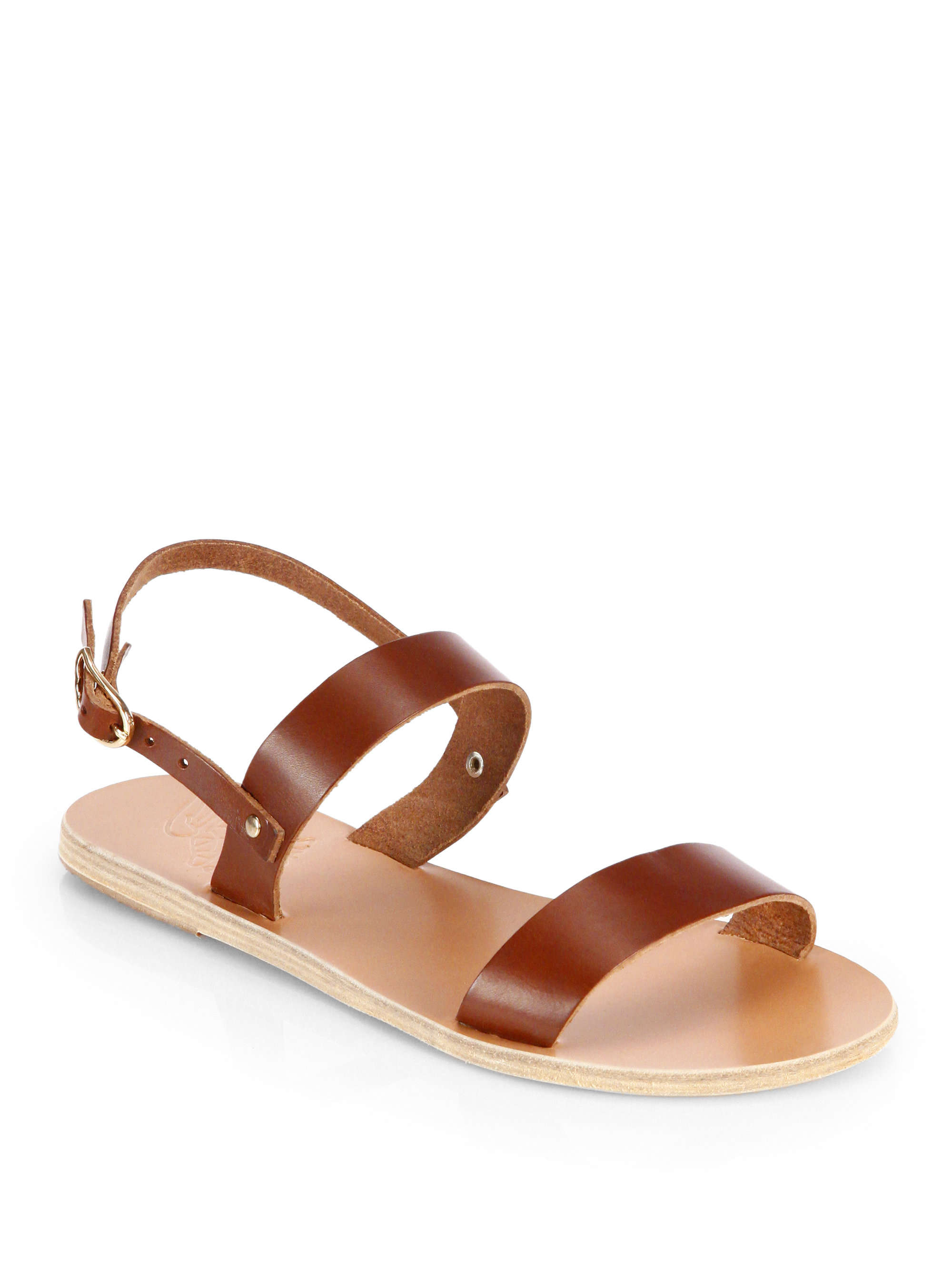 9628cd6273ff85 Lyst - Ancient Greek Sandals Clio Leather Slingback Sandals in Brown
