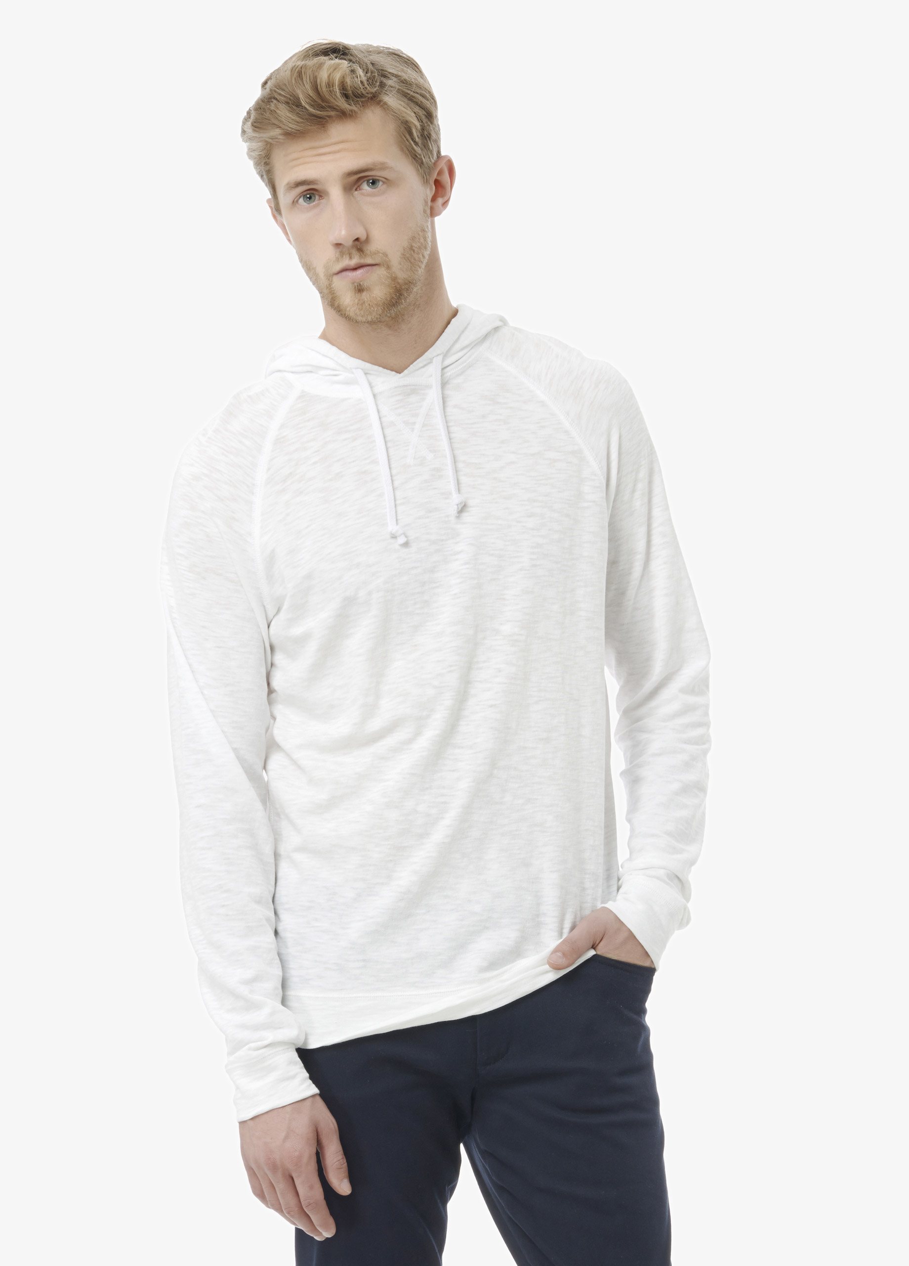 Vince Slub Cotton Pullover Hoodie in White for Men | Lyst