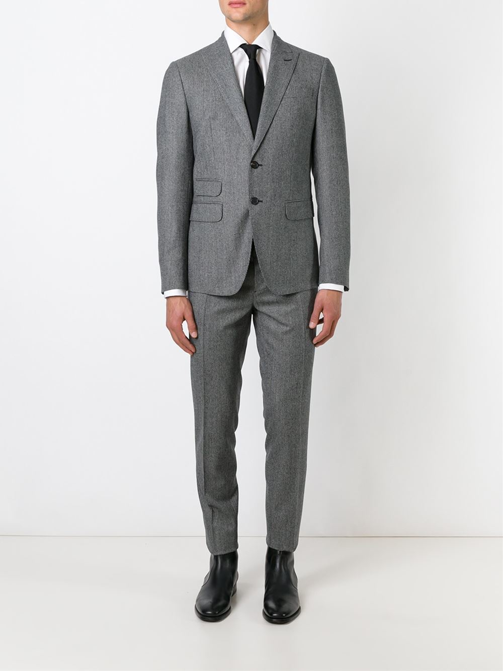 Dsquared² Houndstooth Two-piece Suit in Black for Men