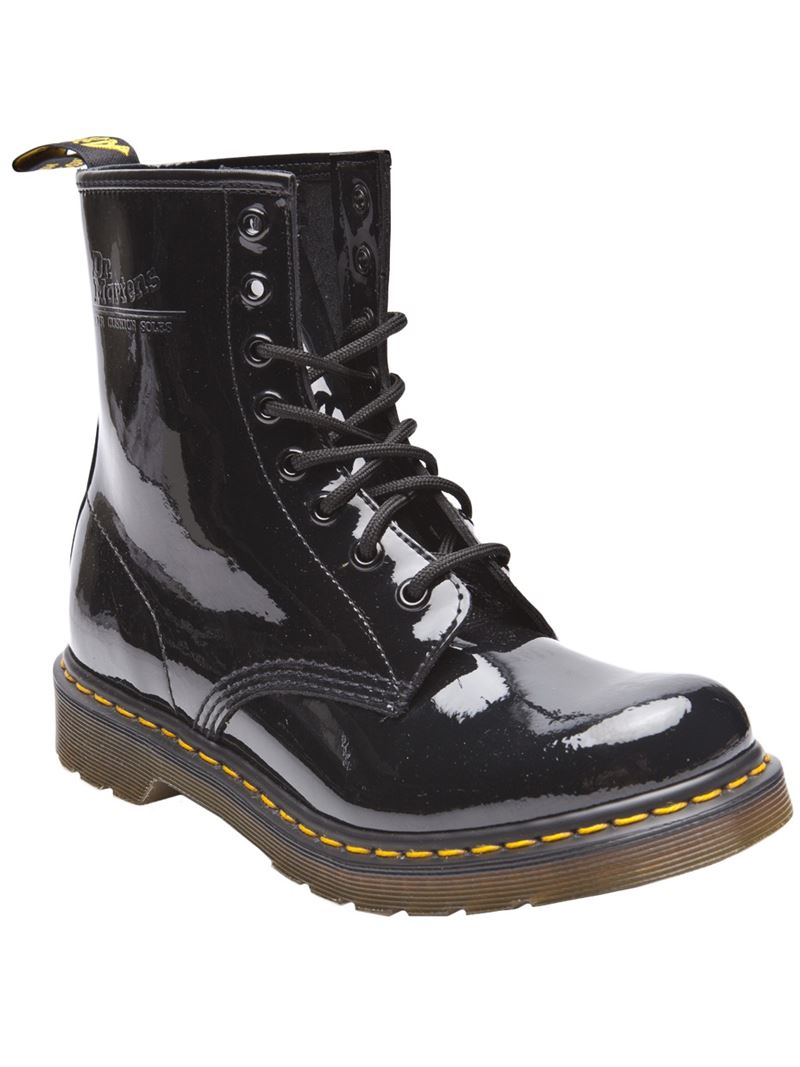 lyst dr martens 1460 patent boot in black. Black Bedroom Furniture Sets. Home Design Ideas