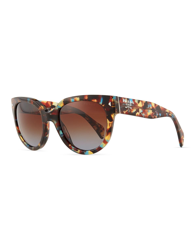 104cfa52c1 Prada Cat-Eye Retro Rectangle Sunglasses - Lyst