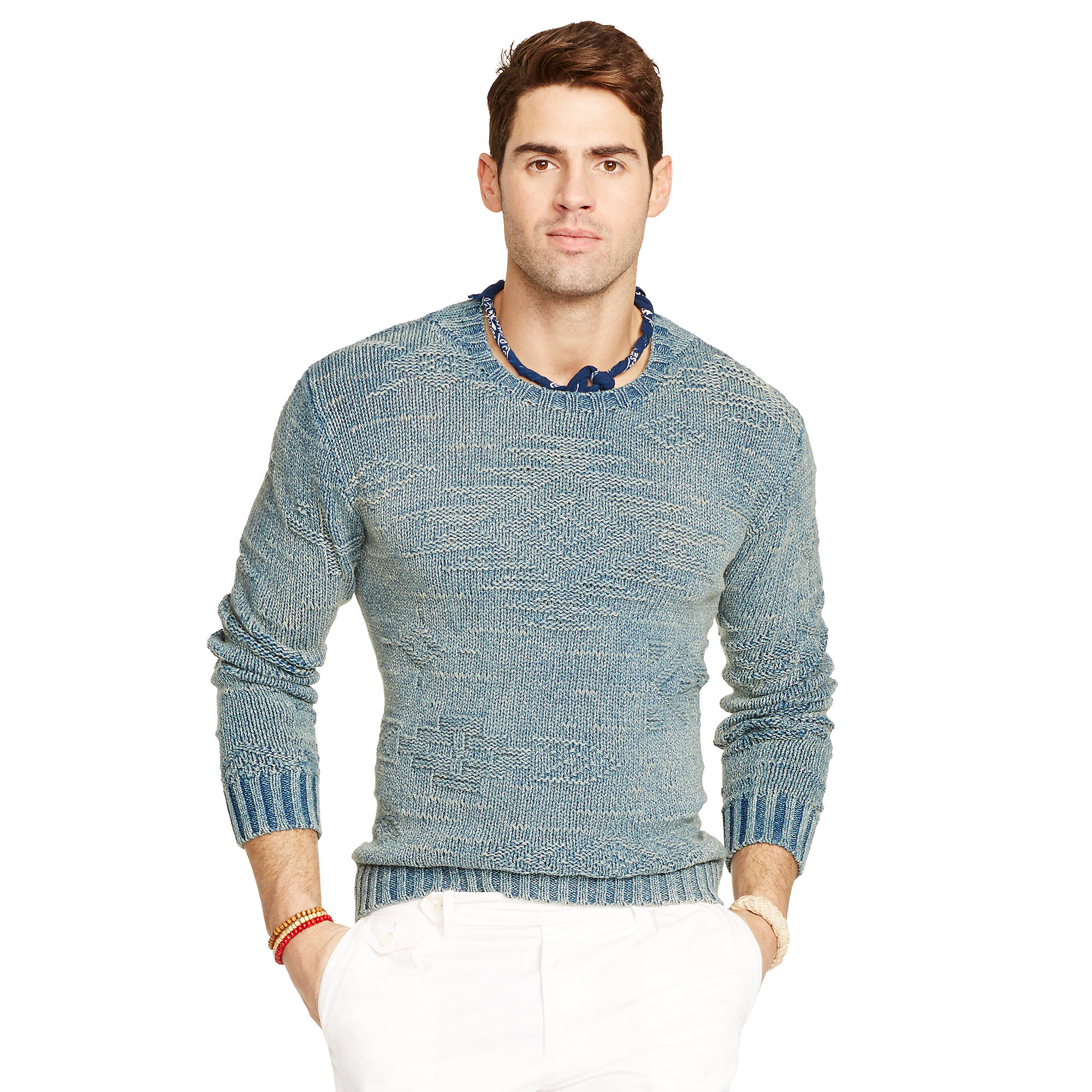 47717ccdb24b ... hot lyst polo ralph lauren indigo dyed cotton sweater in blue for men  9caa7 32a77