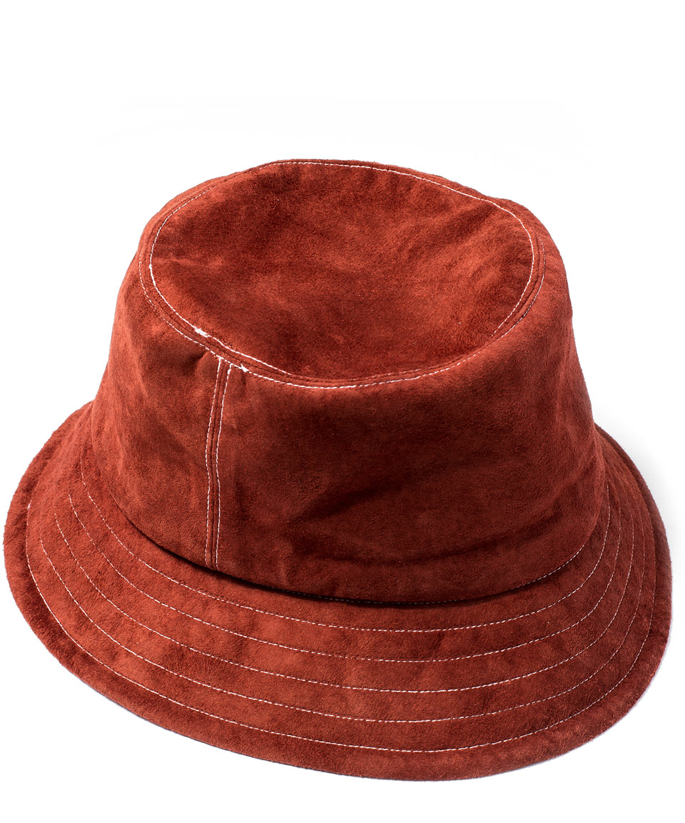 f9a486128 Eugenia Kim Red Toby Suede Bucket Hat