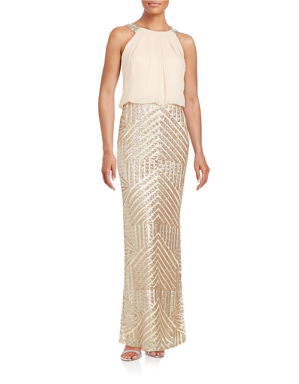 Lyst - Vince Camuto Sequined Blouson Gown