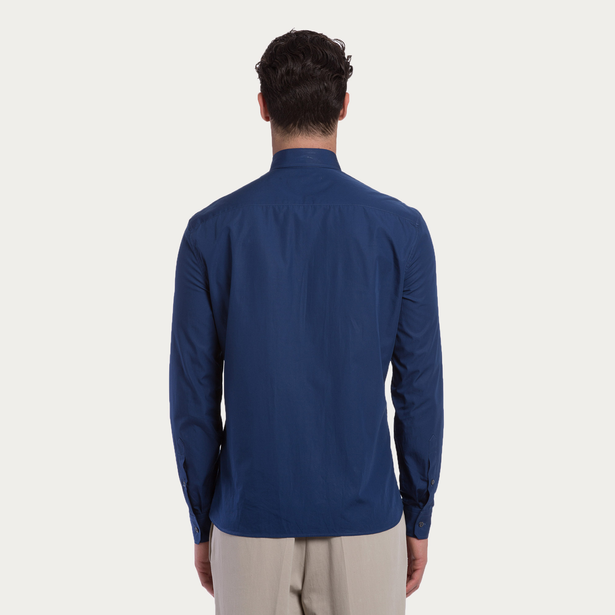 Bally Cotton Poplin Shirt In Blue For Men Lyst