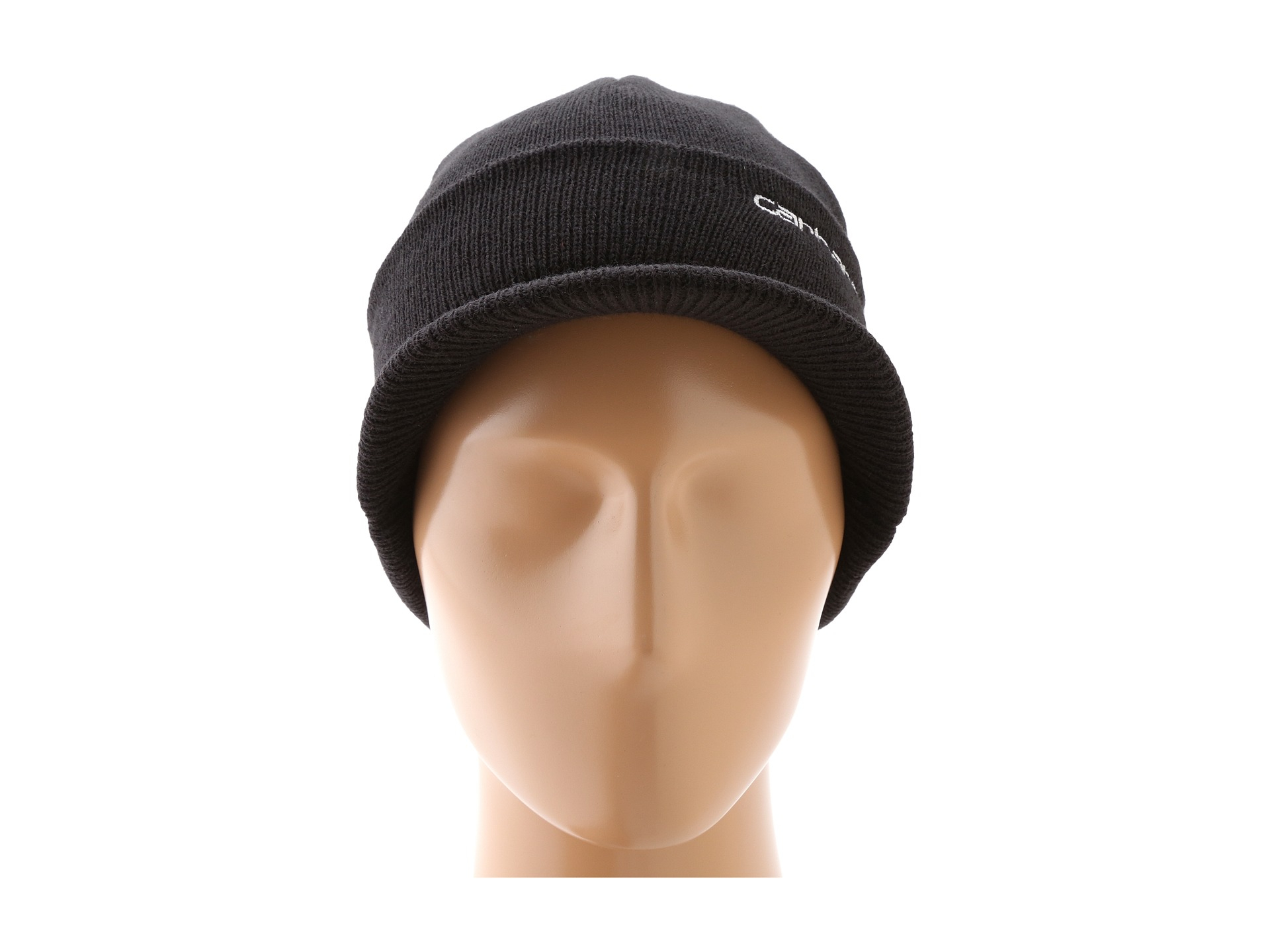 e1a6c11e Carhartt Knit Hat With Visor in Black for Men - Lyst