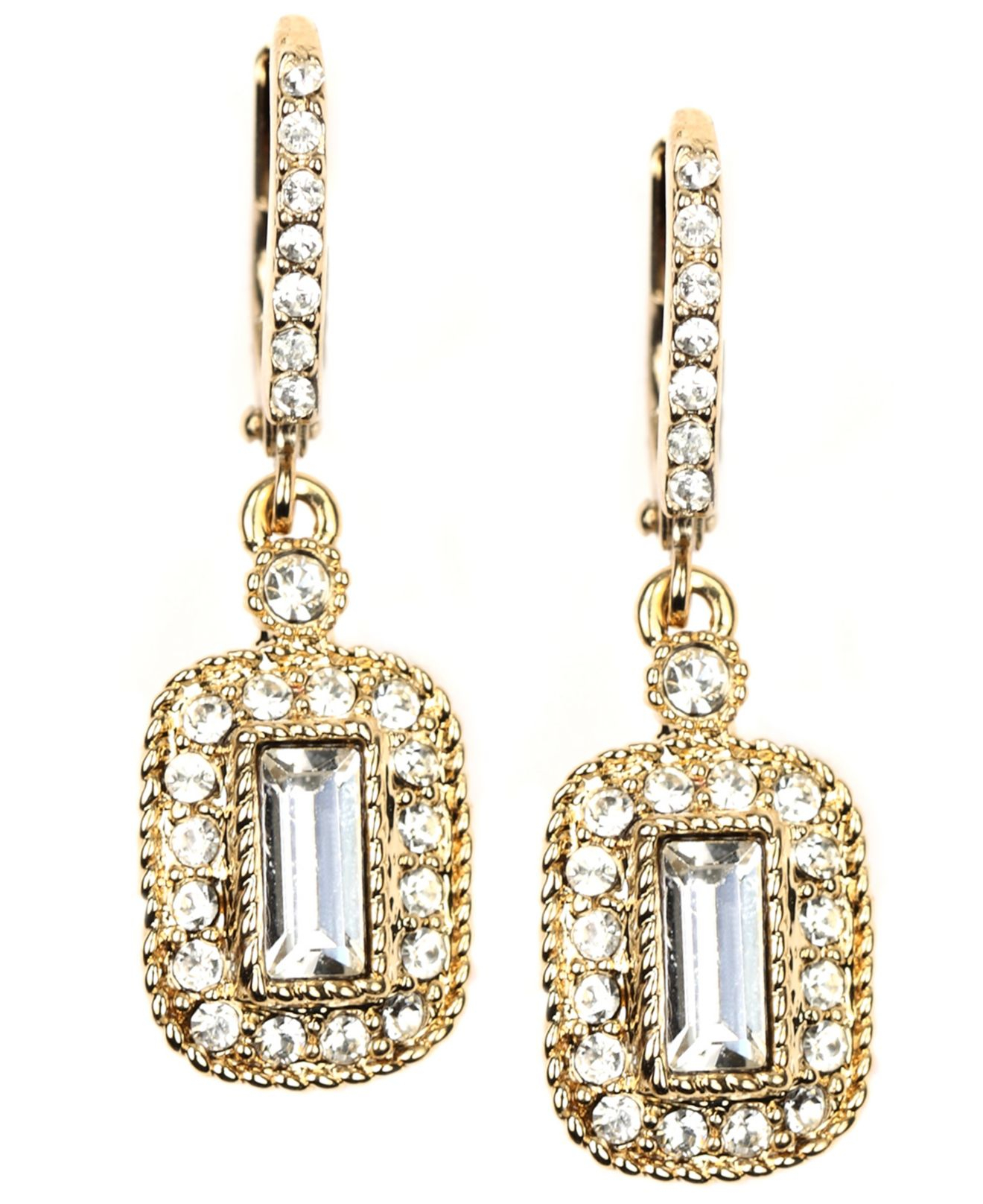 givenchy gold tone drop earrings in metallic lyst